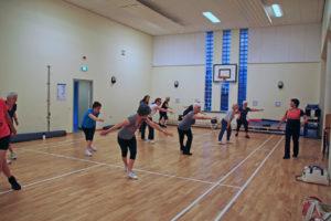 Sport en bewegen in gymzaal